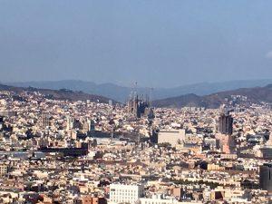 Priveliște de pe Montjuic, Barcelona
