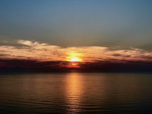Apus de soare în Tropea, Calabria