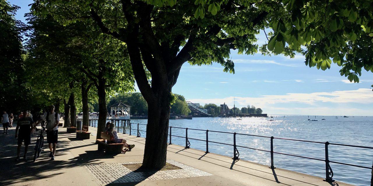 O zi pe malul lacului Constanța, în Bregenz, Austria