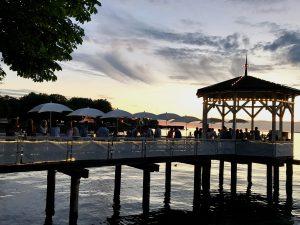 Apus pe lacul Constanța, Bregenz, Vorarlberg, Austria