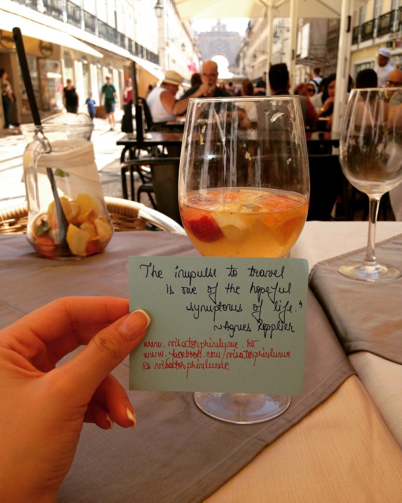 Sangria cu vin alb, Lisabona