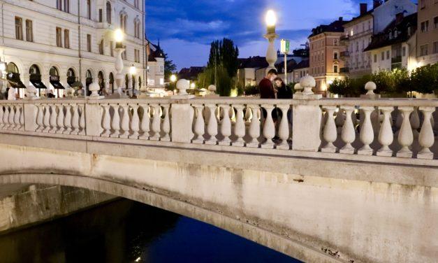 Ljubljana la ceas de seară în imagini