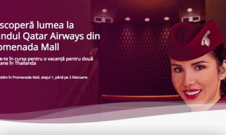 Qatar Airways a deschis primul pop up de călătorii din România și oferă o vacanță în Thailanda