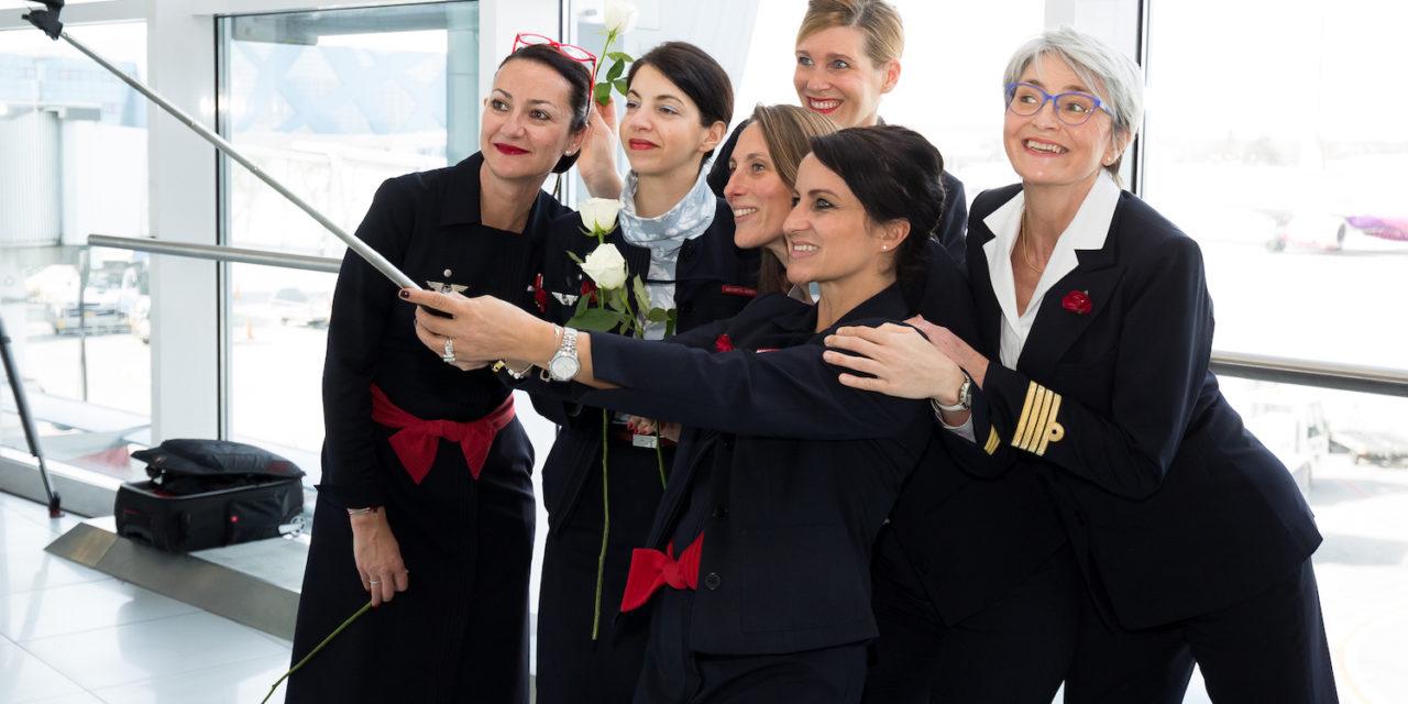 Air France a marcat Ziua Internațională a Femeii printr-un zbor 100% feminin