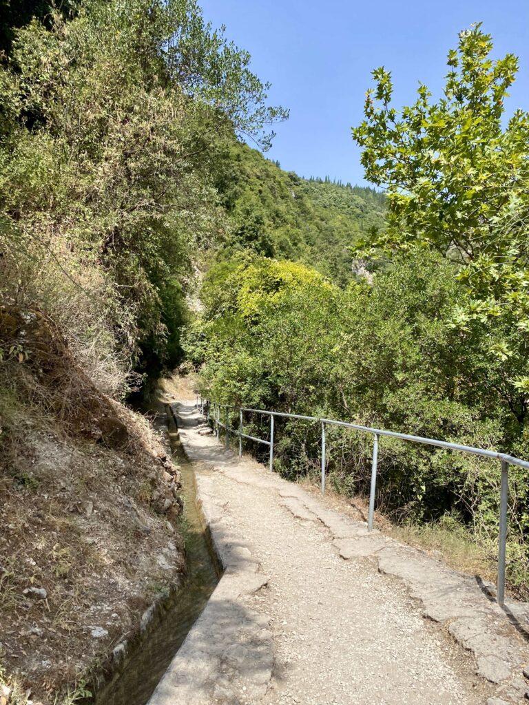 Cascada Dimosari, Lefkada, Grecia