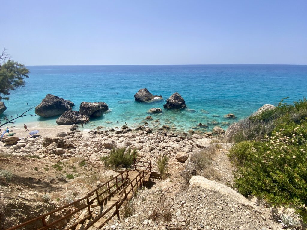 Plaja Megali Petra, Lefkada