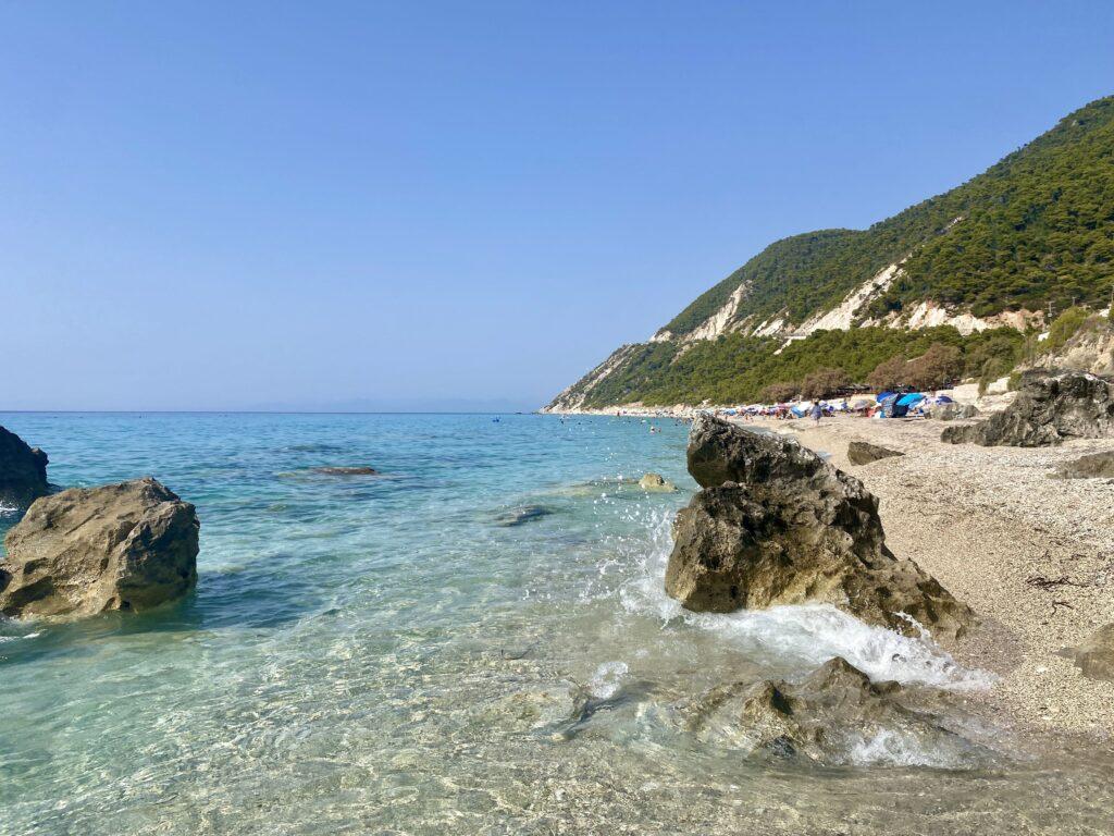 Plaja Pefkoulia, Lefkada
